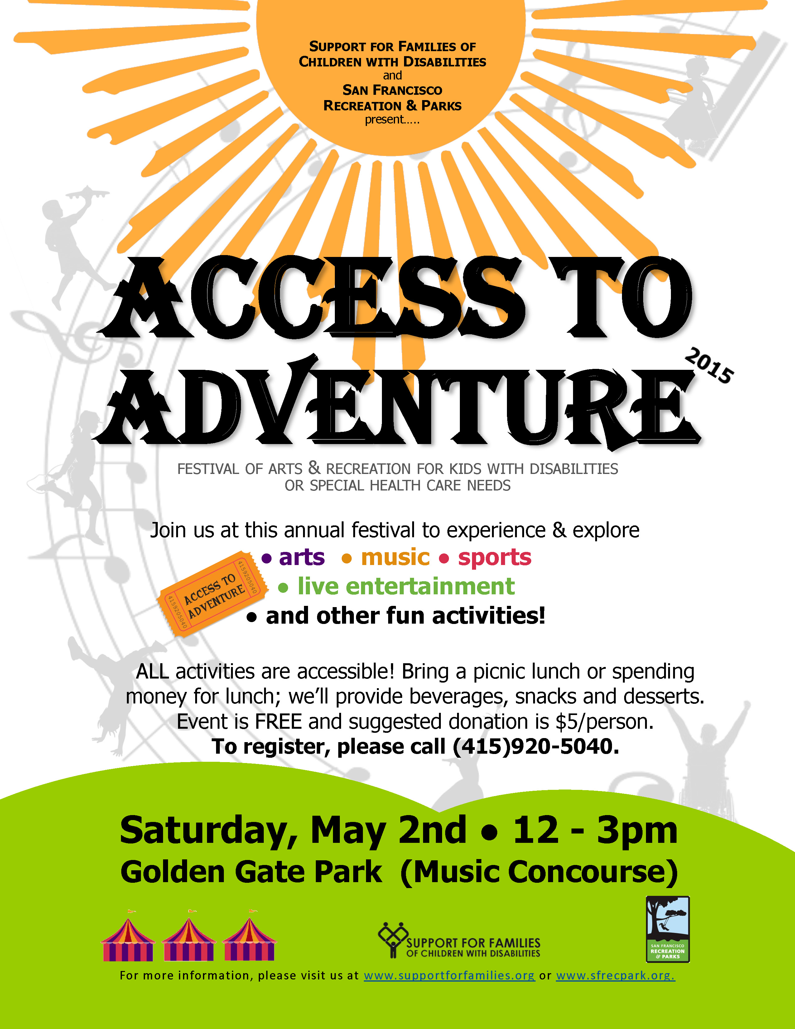Access To Adventure – May 2nd in Golden Gate Park