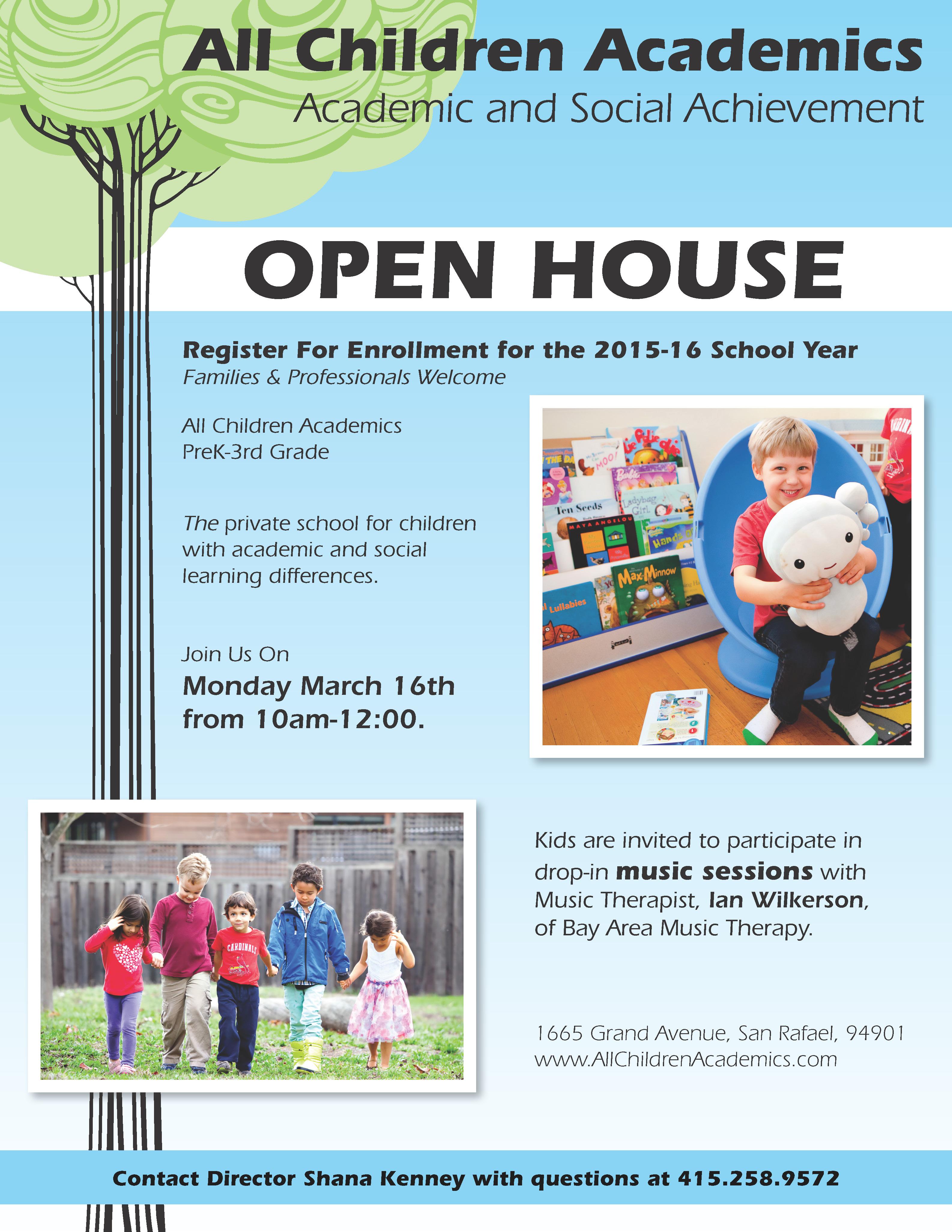 Open House at All Children Academics in San Rafael