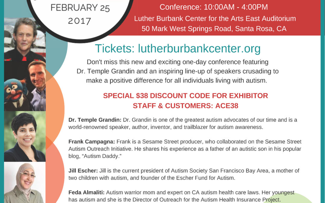 Autism Conference featuring Dr. Temple Grandin. Feb. 25 from 10am-4pm.